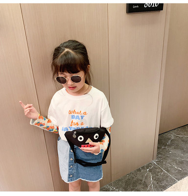 Kids Collage Face Casual Waist Bag