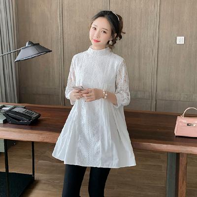 Maternity Clothing Loose Large Size Lace Shirt