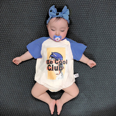 Baby Clothing Short-sleeved Summer Triangle Cotton Pajamas