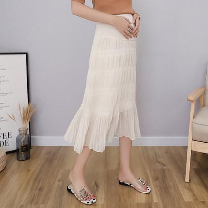 Maternity Clothing Chiffon Pleated Skirt