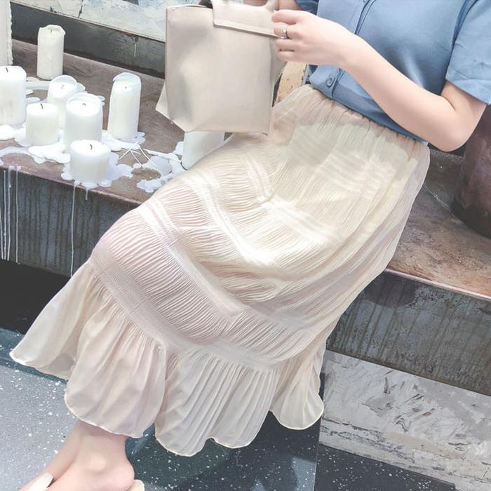 Maternity Clothing New Summer Chiffon Fishtail Skirt
