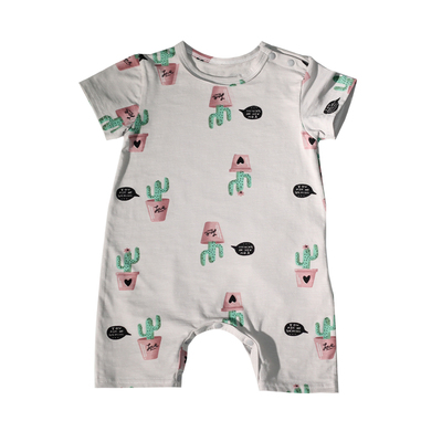 Baby Clothing Newborn Summer Cotton Short-sleeved Jumpsuit Sleepwear