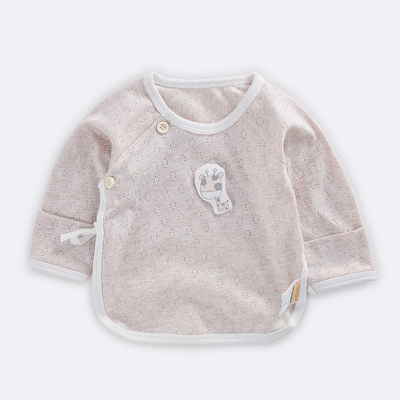 Baby Clothing Newborn Ultra-thin Half-back Long-sleeved Mesh Cotton Top