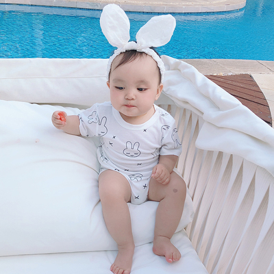 Baby Clothing Short-sleeved Summer Triangle Hammock Suit