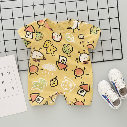Baby Clothing Short-sleeved Summer Cotton Sleepwear Suit