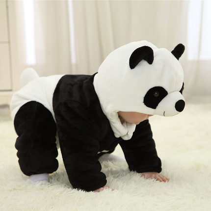 Baby Clothing Long-sleeved Cotton Padded Panda Jumpsuit