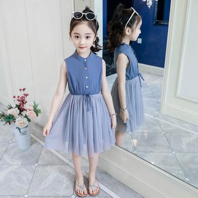 Kids Clothing Summer Vest Princess Skirt Dress