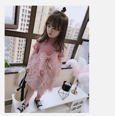 Kids Clothing Summer Casual Puffy Princess Skirt Dress