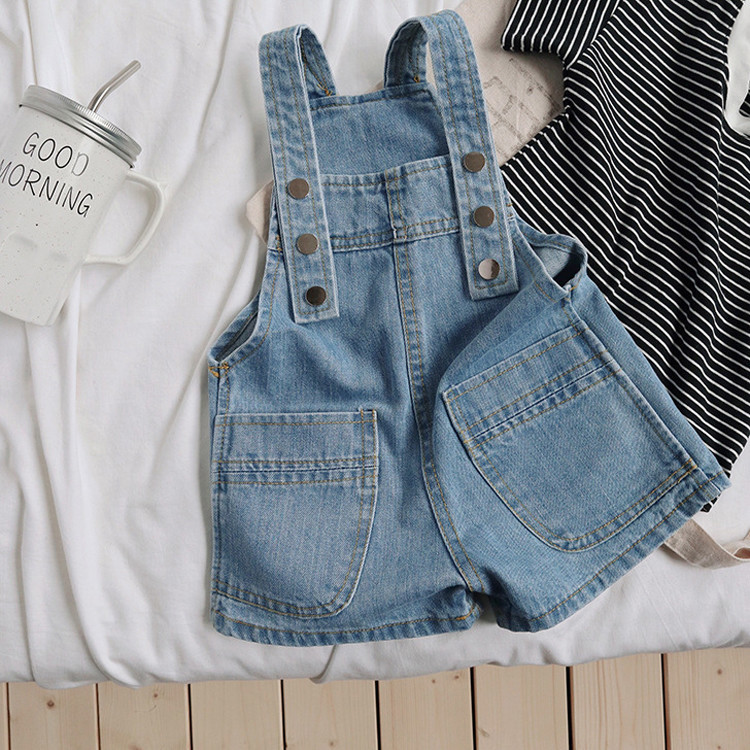 Kids Clothing Baby Denim Straps Shorts Casual Pants