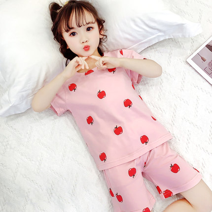 Kids Clothing Baby Long-sleeved Cotton Pajama Set
