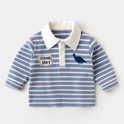 Kids Clothing Cartoon Dinosaur Print Cotton Shirt