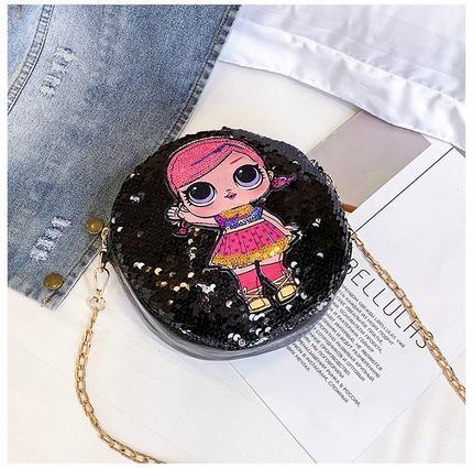 Kids Fashion Sequins Cute Princess Shoulder Chain Bag