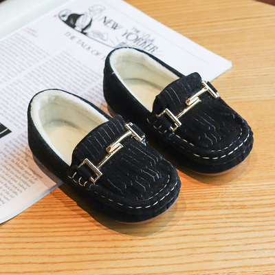 Kids Casual Suede Cotton Peas Shoes