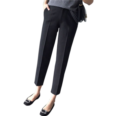 Maternity Clothing New Loose Large Size Nine Points Black Suit Trousers