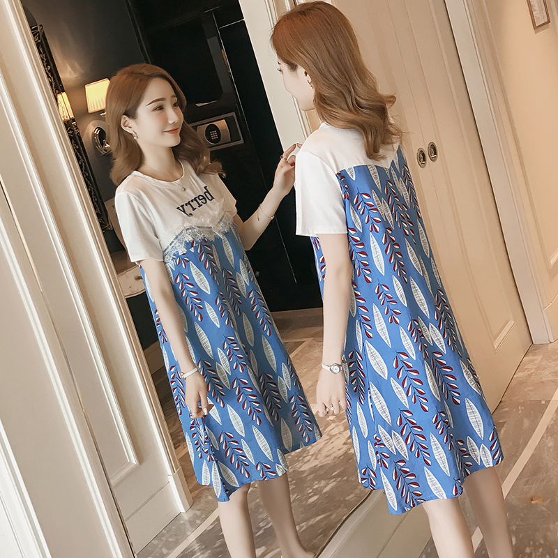 Maternity Clothing Summer Fashion Long Nursing Clothes Feeding Skirt Dress