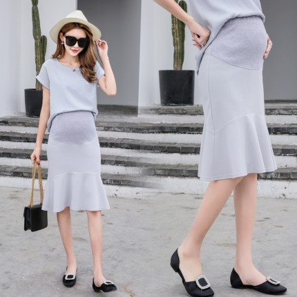 Maternity Clothing Fishtail Elegant Skirt