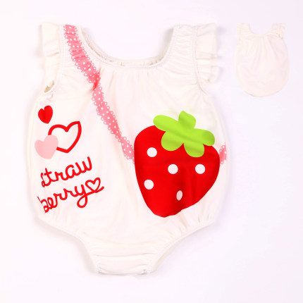 Baby Clothing Strawberry Girl Beach Swimsuit