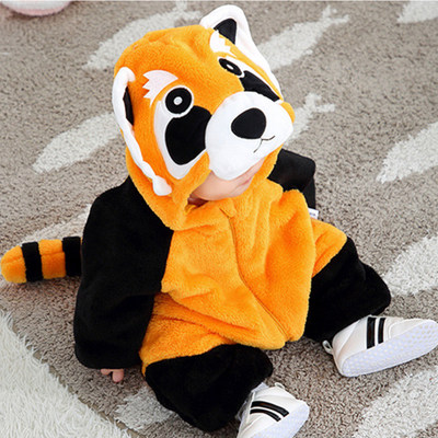 Baby Clothing Long-sleeved Cotton Padded Racoon Jumpsuit