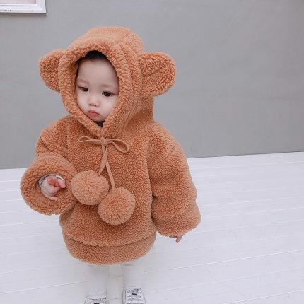 Baby Clothing New Baby Cotton Big Ears Bear Jacket