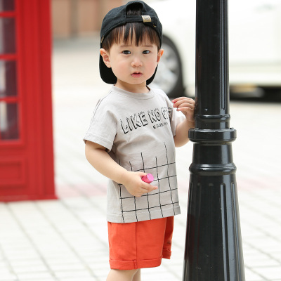 Kids Clothing Short-sleeved Casual Outdoor Two-piece Set