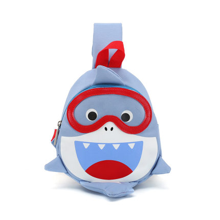 Kids Casual Student Happy Shark Body Bag Backpack