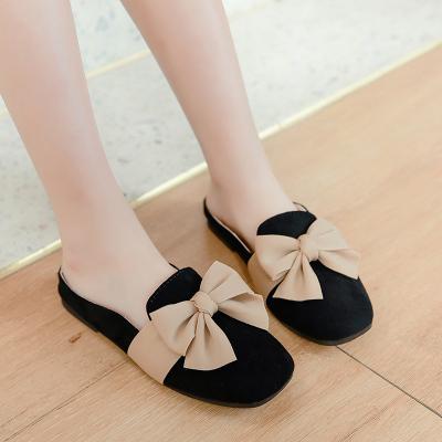 Kids Summer New Girls Half Drag Bow Shoes