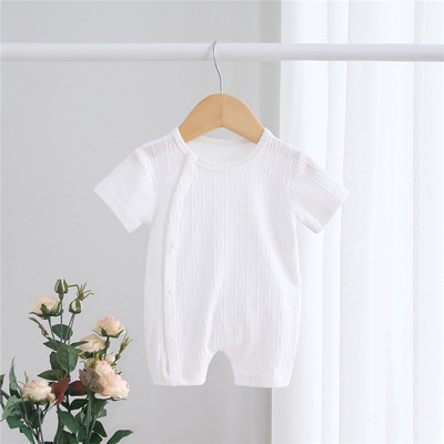 Baby Clothing Summer Cotton One-piece Pajamas Climbing Suit