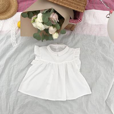 Kids Clothing Summer White and Polka Dot Shirt