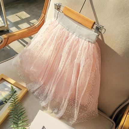Kids Clothing Summer Fluffy Yarn Mesh Short Skirt