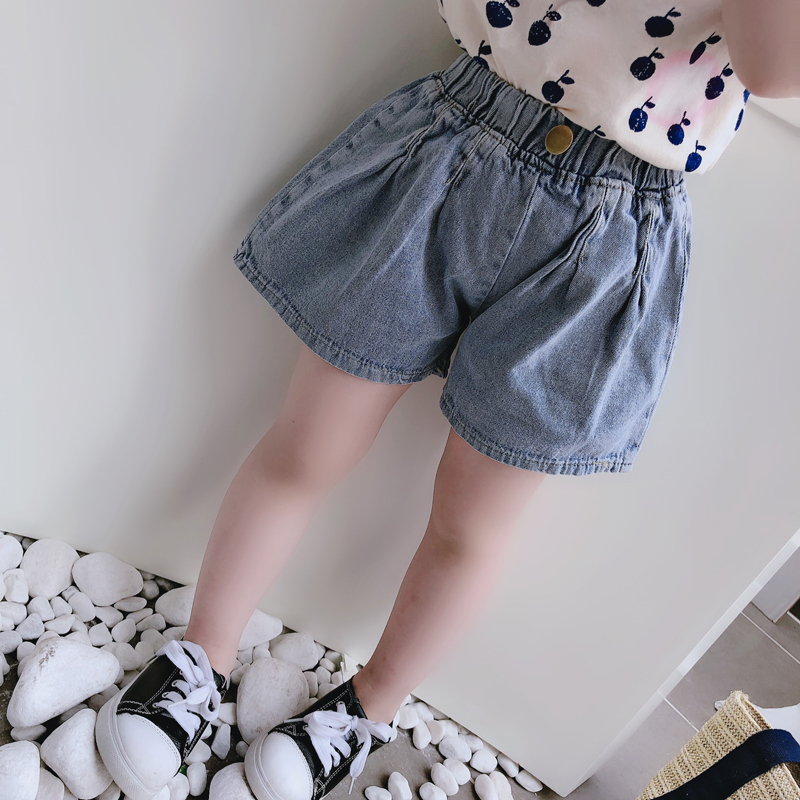 Kids Clothing Casual Comfortable Solid Color Jeans