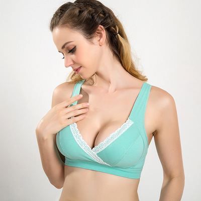 dc4b93893fd Women No Rim Breast Feeding Lace Maternity Lingerie