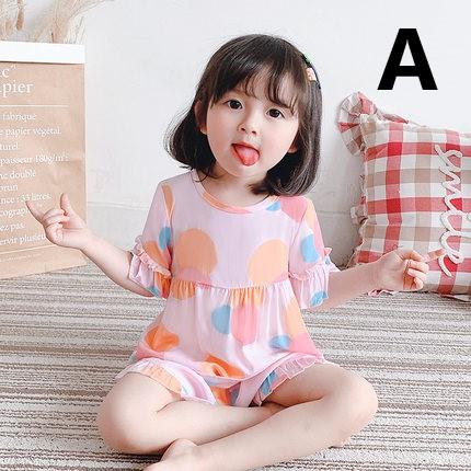 Kids Clothing Summer Pajamas Short-sleeved Cotton Sleepwear