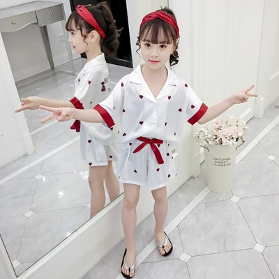 Kids Clothing Summer Pajamas Short-sleeved Comfortable Sleepwear