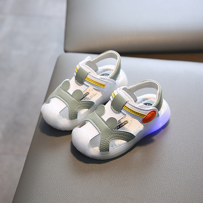 Kids Soft Bottom Bright Lights Casual Baby Shoes