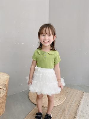 Kids Clothing Short-sleeved Elastic Polo Shirt