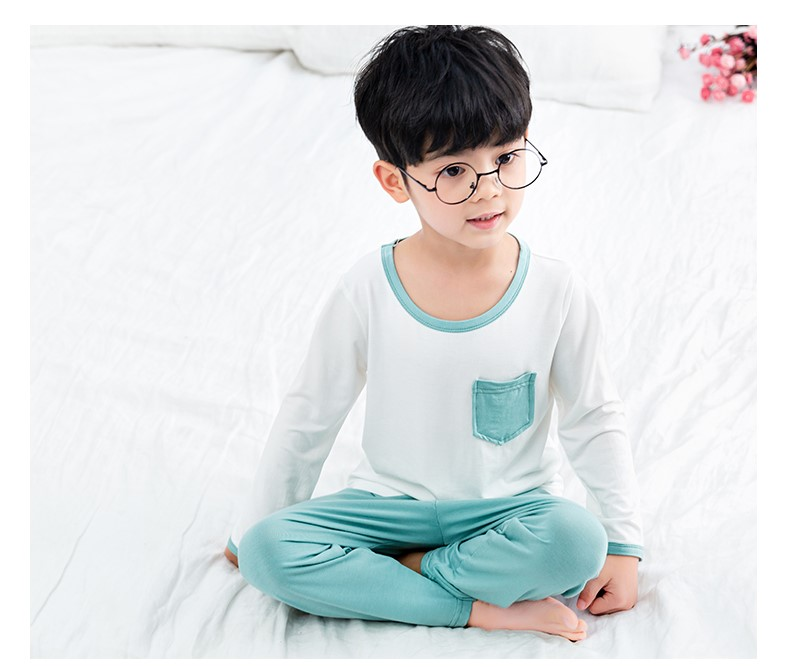 Kids Clothing New Long-sleeved Pajamas Two-piece Set