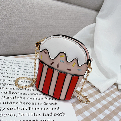 Kids Cute Colorful Cupcake Chain Bag