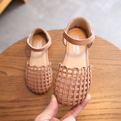 Kids Sweet Soft Bottom Girls Sandals Woven Princess Shoes