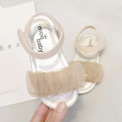 Kids Non-slip Rubber Soft Bottom Chiffon Sandals