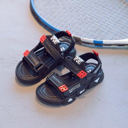 Kids Open Toe Wear-resistant Soft Bottom Boys Sandals