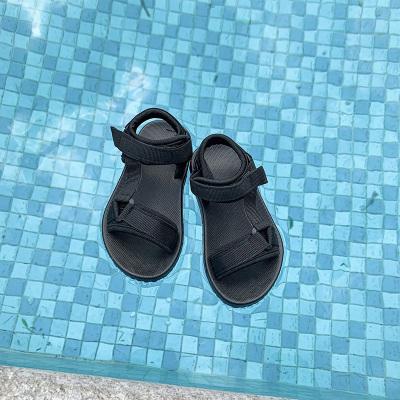 Kids Open Toe Non-slip Velcro Slippers