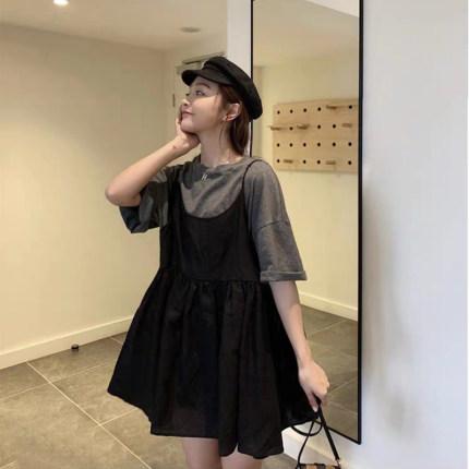 Maternity Clothing Pregnant Women Summer Mid-length Long Loose Dress