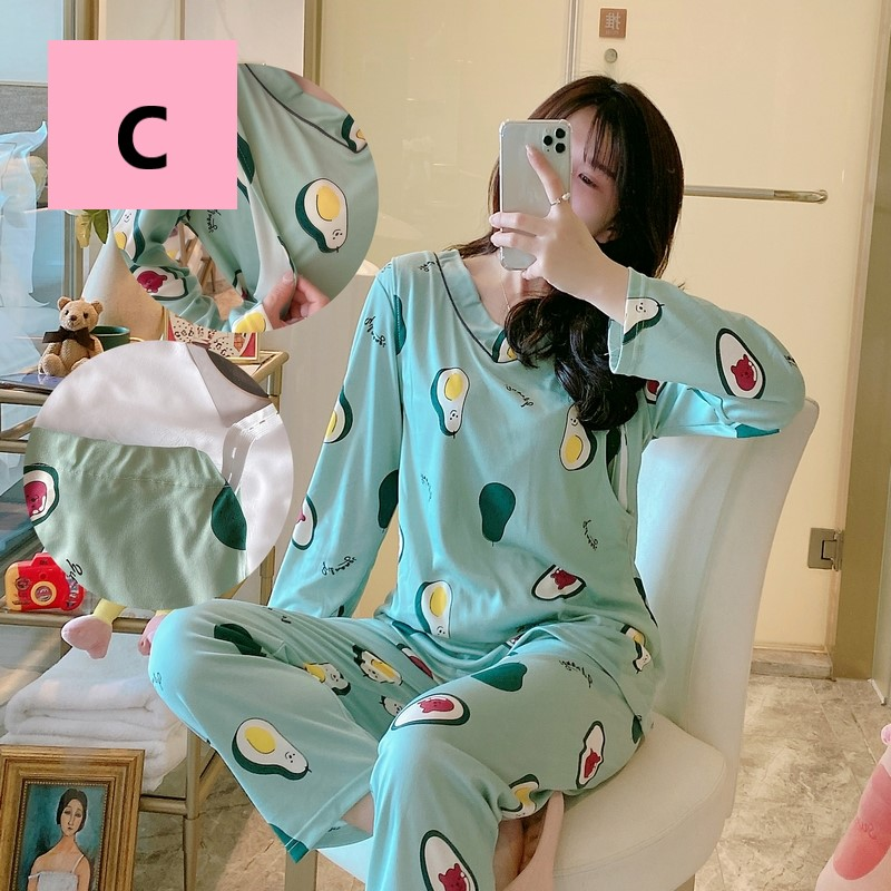 Maternity Clothing Pregnant Women Breastfeeding Pajama Suits
