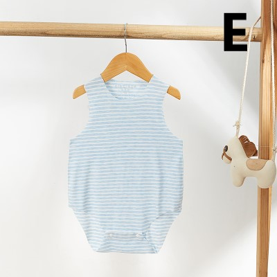 Baby Clothing Casual Seamless Cut Newborn Sleeveless Pajamas Suit