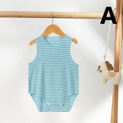 Baby Clothing Casual Seamless Cut Newborn Sleeveless Pajamas Suit