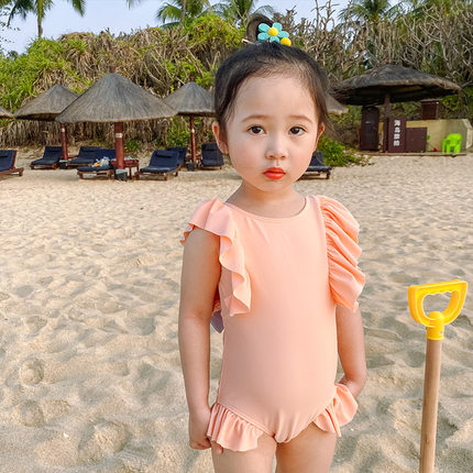Baby Clothing Summer Big Back Bow One-piece Swimsuit