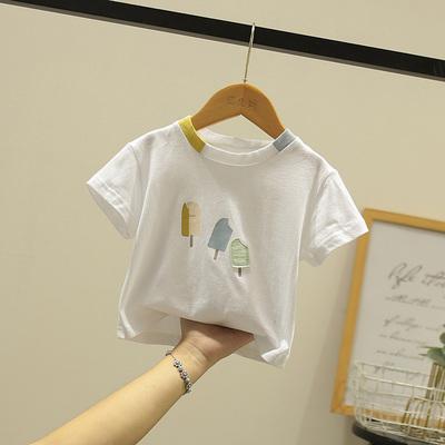 Kids Clothing Girls Floral Medium-sized Short-sleeved Baby Skirt