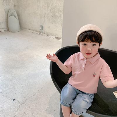 Kids Clothing Boys Casual Short-sleeved Polo Shirt