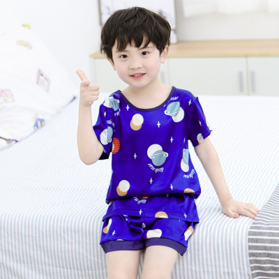 Kids Clothing Summer Pajamas Short-sleeved Ice Silk Suits