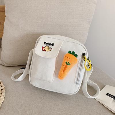 Kids Kindergarten Casual Carrot Canvas Shoulder bag